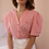 Thumbnail: 90s Vintage Puff Sleeve Blouse in Red Gingham - (EU46)