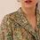 Thumbnail: 90s Vintage Collar Blouse in Floral Green (EU38)