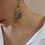 Thumbnail: 80s Vintage Statement Royal Blue Earrings