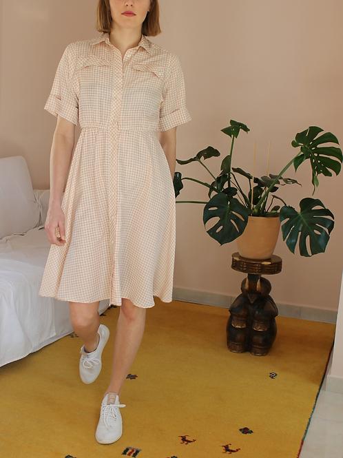 90s Vintage Check Print Dress - (EU40)