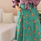 Thumbnail: 90s Vintage Floral Skirt in Green - (EU38)