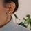 Thumbnail: Vintage 60s Globus Flower Earrings