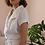 Thumbnail: 90s Vintage Linen Blouse in White - (EU44)