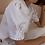 Thumbnail: 90s Vintage Statement Blouse in White - (EU44)