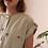 Thumbnail: Vintage Utility Linen Dress - (EU42)