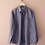 Thumbnail: 90s Vintage Linen Collar Blouse in Blue - (EU 48)