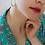Thumbnail: 80s Vintage Silver Plated Hoop Earrings