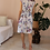 Thumbnail: Vintage Summer Floral Dress in White - (EU38)