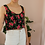Thumbnail: Vintage Austrian Crop Top in Floral Black