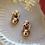 Thumbnail: Vintage 60s Geometric Statement Earrings