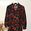 Thumbnail: Vintage Floral Collar Blouse in Black and Red