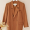 Thumbnail: Vintage Double Breasted Blazer in Caramel Brown