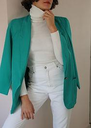 Vintage 90s Oversized Long Line Blazer i