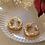 Thumbnail: Vintage 90s Gold Plated Hoop Earrings