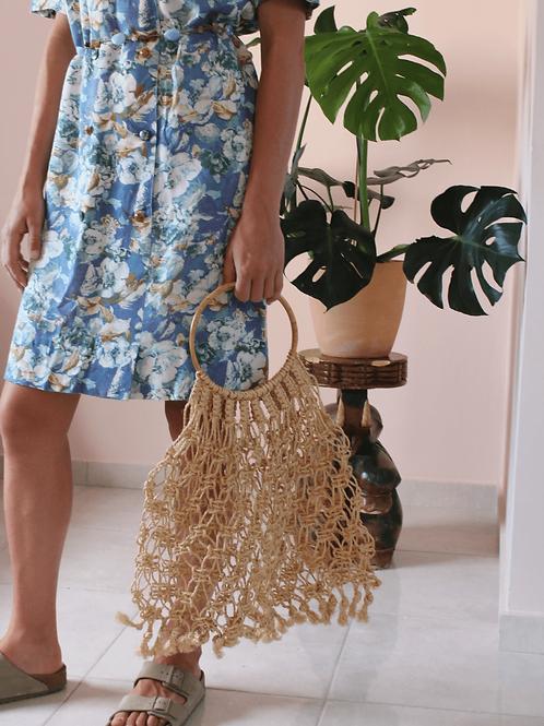 Vintage Natural Straw Rope Bag