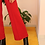 Thumbnail: Vintage 70s High Waisted Flares in Wine Red, W31/L28