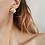 Thumbnail: Vintage Gold Toned Shell Earrings