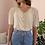 Thumbnail: 90s Vintage Silk Blouse in Cream - (EU46-48)