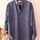 Thumbnail: 90s Vintage Silk Shirt in Indigo Blue - (EU48-50)