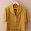Thumbnail: 90s Vintage Cuban Collar Blouse in Yellow - (EU44)