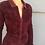 Thumbnail: Vintage Zip Front Corduroy Dress in Burgundy