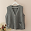 Thumbnail: Vintage 90s Chunky Knit Vest in Grey