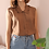 Thumbnail: 90s Vintage Silk Fringe Top in Brown - (EU46)