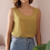 Thumbnail: 90s Vintage Silk Blend Top in Olive Green - (EU46)