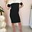 Thumbnail: Vintage Midi Linen Dress in Black and White