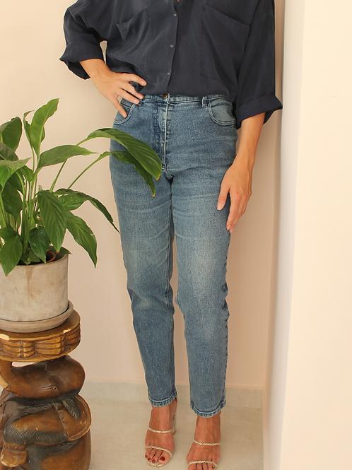 Vintage High Waisted Mom Denim Blue Jeans
