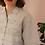 Thumbnail: 90s Vintage Linen Blouse in Beige - (EU46)