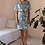 Thumbnail: 90s Vintage Dress in Floral Blue - (EU44-46)
