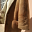 Thumbnail: Vintage Leather Shearling Jacket Coat in Light Brown