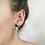 Thumbnail: Vintage Silver Toned Snake Earrings