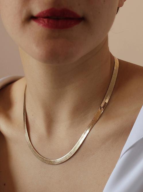 80s Vintage Fat Herringbone Necklace