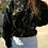 Thumbnail: Vintage Wool Cardigan Sweater in Black