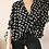 Thumbnail: Preloved Casual Button Up Shirt in Black Polka Dot