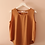 Thumbnail: 90s Vintage Silk Top in Brown- (EU42-44)