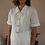 Thumbnail: Vintage Cut Out Blouse in White - (EU46)