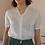 Thumbnail: 90s Vintage Cut Out Blouse in White - (EU46)