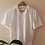 Thumbnail: Vintage Embroidered Collar Blouse in White with Short Sleeves