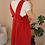 Thumbnail: 90s Vintage Straps Day Dress in Red- (EU44-46)
