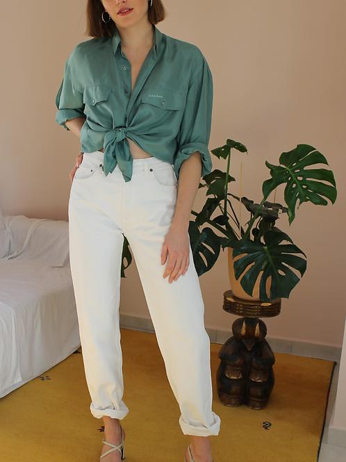 90s Vintage Levis 501 Jeans in White, W32/L33
