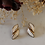 Thumbnail: Vintage 70s Cream Enamel Earrings