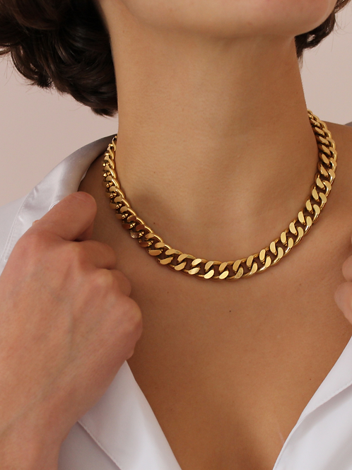 Vintage Statement Gold Chunky Chain Necklace