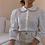 Thumbnail: 90s Vintage Statement Collar Blouse in White (EU36)