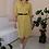 Thumbnail: Vintage 100% Silk Dress in Yellow- (EU40)