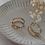 Thumbnail: 80s Vintage Art Deco Hoop Earrings