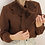 Thumbnail: 90s Vintage Ruffle Collar Blouse in Brown