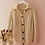 Thumbnail: 90s Vintage  Cable Knit Cardigan in Cream